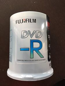 FujiFilm DVD-R 100 disc Spindle - Brand NEW