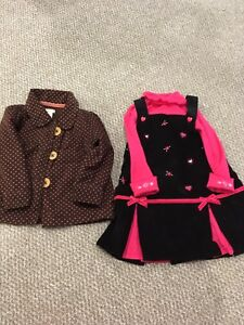 Baby Jacket  and Dress Outfit