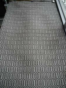New Braid Waffle Wool Flatweave Grey Hall Runner Geometric Rugs Melbourne CBD Melbourne City Preview