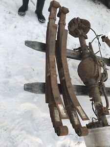 2006 f350  front and rear axle and leaf springs