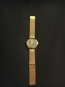 SO&CO Gold Watch with Adjustable Mesh Strap