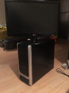 ASUS gaming PC + LG monitor