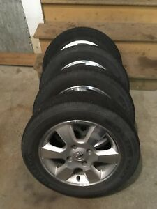 4 summer tires with mag  (4x114.3) 185/65/15