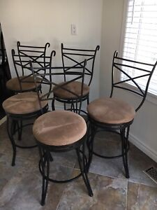 Counter height swivel stools