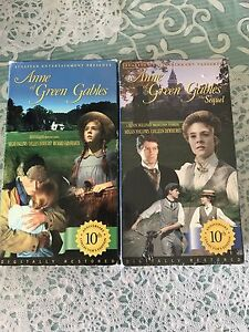 VHS MOVIES OF ANNE OF GREEN GABLES COMPLETE SERIES