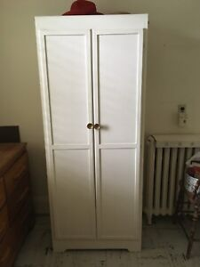 Mid-century wood panel ARMOIRE. Small / compact. Simple