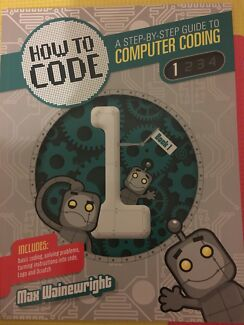 How to Code Step by step computer coding books near new
