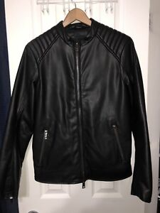 Armani Jeans leather jacket worth 600 before tax size 46 small