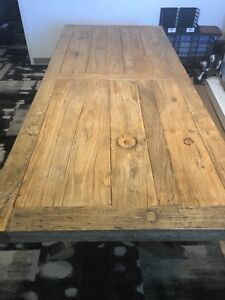 Wood and chrome table for sale