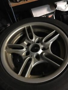 "16"" replica BMW rims 205/55/r16 used for winter set."