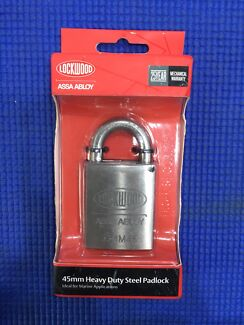 Lockwood ASSA ABLOY 45mm Heavy Duty Steel Padlock