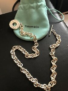 Authentic Tiffany &  Co toggle necklace
