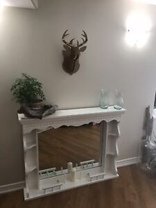 Solid Wood Decorative Faux Fireplace Mantle $100 OBO