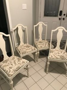 Shabby chic refinished dining room/ kitchen chairs