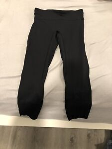 Black Lululemon leggings size 10, 7/8 length