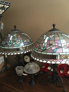 Hummingbird Stained Glass Lamps