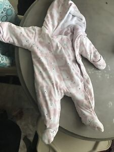 Girls 6-9 month snow suit
