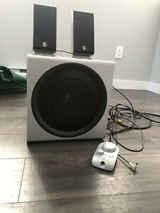 Logitech speaker and subwoofer