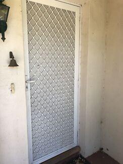 Screen door with key