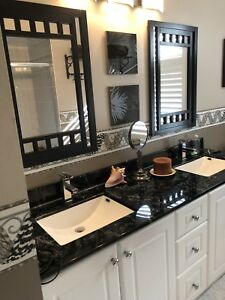 Vanity and taps and sink for sale.