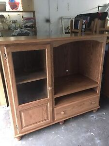 Oak and pine cabinets