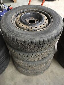 Studded winter tires for sale. 205 65 R15.