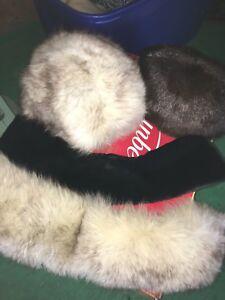 Chapeaux fourrure et collet