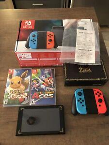 Nintendo switch avec facture 2 jeux