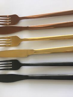 Rose Gold Cutlery HIRE $0.80 a piece