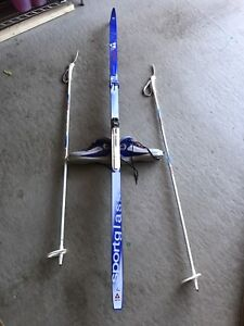 Cross country skis  , size 8 boots and poles
