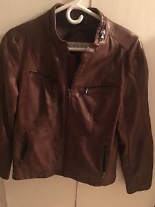 Real leather women's jacket