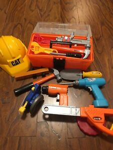 Kids toolbox and tools