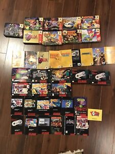 N64, SNES, NES and more game boxes and manuals