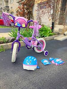 "12"" in. Princess glitter bicycle"