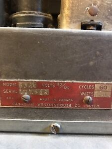 Antique Westinghouse tube radio