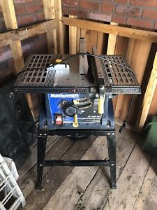 "Mastercraft 15A 10"" table saw brand new"