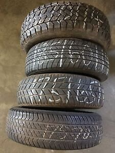 Various 14 inch single tires . 195, 185,175