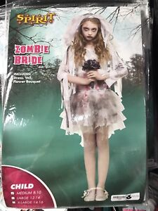 Zombie Bride Halloween Costume Child M 8-10