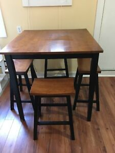 Bar style kitchen table