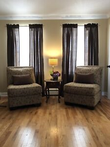 Panel Curtains - 2 Pairs - Brown