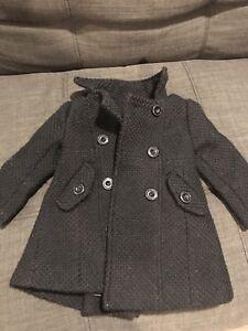 Joe fresh long pea coat 1 year