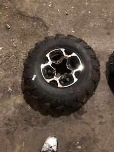 Can am outlander factory rims and tires