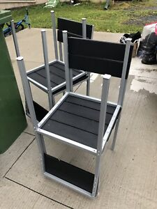 Metal Table and 4 Chairs