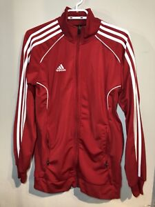 red zip up adidas sweater size xs good condition