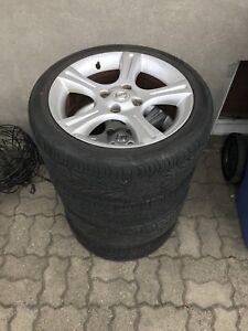 Nissan Sentra SE-R spec-v wheels and tires jantes et pneus