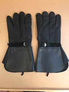 Men's XL leather gauntlet style riding gloves (2 pairs)