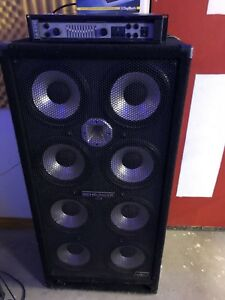 Bass amp and cabinet