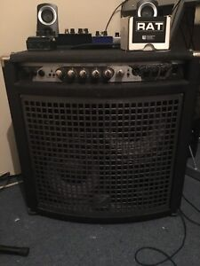 Bass amp and bass pedals