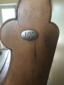 100 year old church bench.