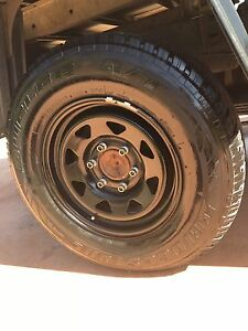 4 x 16 inch black Sunraysia wheels with A/T tyres! Glenvale Toowoomba City Preview